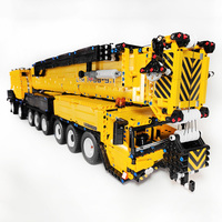 7068Pcs Moc Small Particles 1:20 2.4G RC Mobile All Terrain Crane Building Blocks Construction Vehicle Model Block Assembly Toys