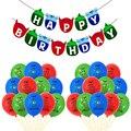 Мультфильм маска шары 12 дюймов Зеленые Синие, красные воздушные шарики из латекса для костюмированной вечеринки с днем рождения баннеры-Де...
