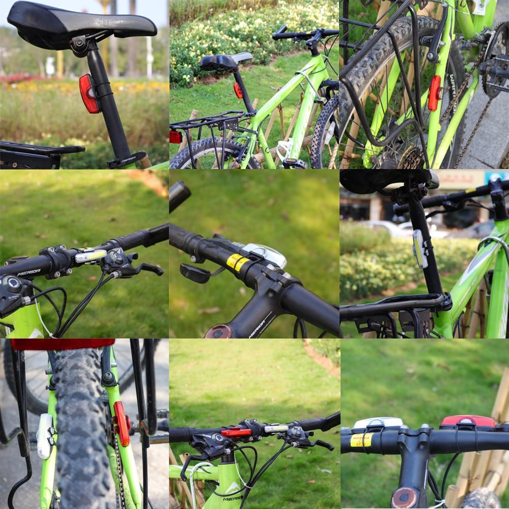 Купить с кэшбэком Bike Rear Light USB Rechargeable Bicycle COB Lamp Bike Led Tail Light Front Light Cycling Safety Light Front Rear Lights Set