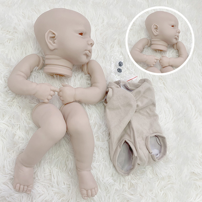 20Inch Reborn Puppe Kit Loulou Wach Unpainted Puppe Teile DIY Blank Frische Farbe Soft Touch Diy Puppe Zubehör