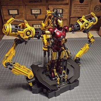 1/12 Escala de montaje de puente Iron Man Diecast aleación armadura desmantelamiento juguetes para 6 pulgadas Iron man sólo stand de exhibición