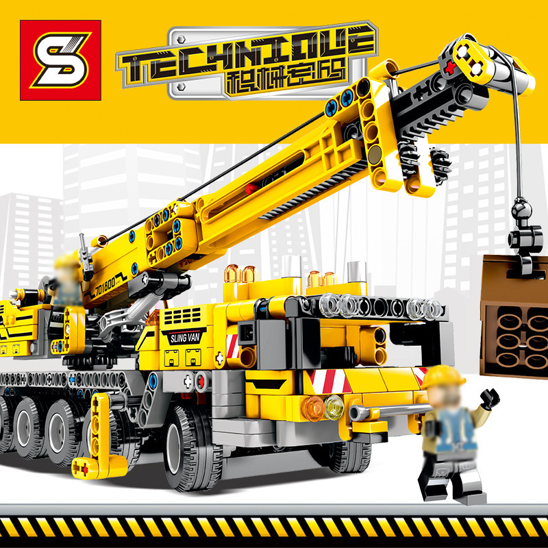 Technic series 701800 Mobile Crane MK II Sets Building Blocks Bricks Compatible <font><b>42009</b></font> 701800 Educational Toy for kid image