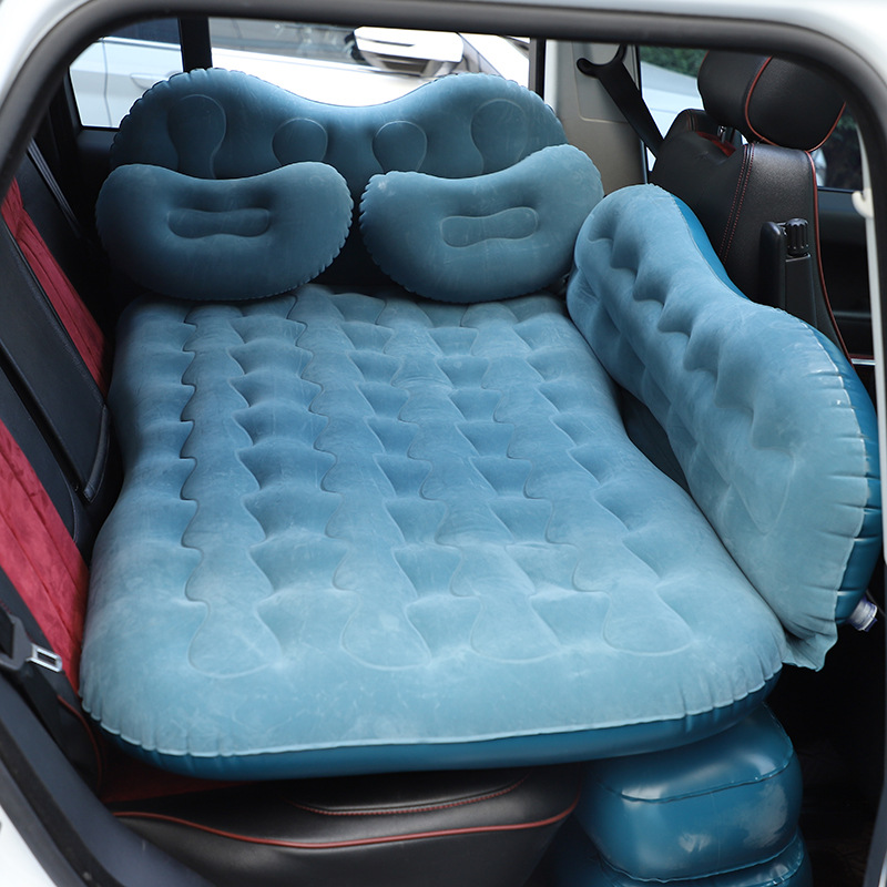 2019 High Quality Top Selling Car Back Seat Cover Travel Mattress Air Inflatable Bed With Pump
