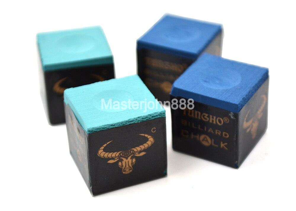 4pcs Of Pool Billiards Snooker Chalk Cubes Chalk Light Green/Blue Dry/Wet Chalks Free Shipping