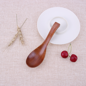 Wood Spoons Creative Wooden Tableware Porridge Soup Cereal Spoons Natural Japanese Style Kitchen Cooking Rice Spoon