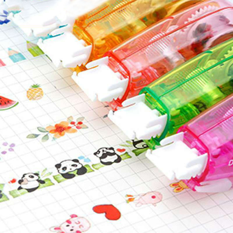 Cute Cartoon Decorative Correction Tape Press Type Panda Decoration Tape For Kids School Scrapbooking Diary Gifts Stationery
