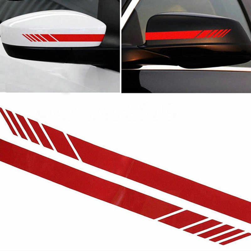 2 uds. Pegatina de espejo lateral retrovisor para coche, pegatina de rayas de vinilo para camión, accesorios para el cuerpo del vehículo, pegatina de tira de coche, pegatinas reflectantes