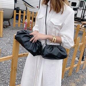 Image 4 - Einfarbig Elegante Umhängetaschen Für Frauen 2021 Kleine Kupplung Weibliche Partei Handtaschen und Geldbörsen Dame Schulter Einfache Tasche