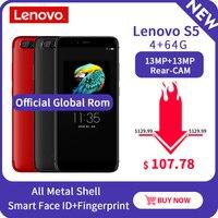 Lenovo S5 K520 4GB 64GB ROM Snapdragon 625 Octa Core Global Version Mobile Phone Dual Rear Camera 13MP Front 16MP 4k Smartphone