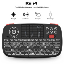Rii i4 Mini Russian Keyboard 2.4G Bluetooth Dual Modes Handheld Fingerboard Backlit Mouse Touchpad Remote Control for TV Box PC