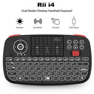 Image 1 - Rii i4 Mini Russian Keyboard 2.4G Bluetooth Dual Modes Handheld Fingerboard Backlit Mouse Touchpad Remote Control for TV Box PC