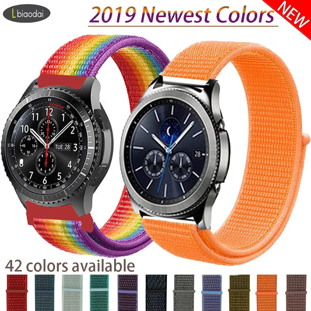 20mm/22mm Strap For Gear S3 Frontier Samsung Galaxy Watch Active2 Strap Huawei Watch GT 2  46mm 42mm Correa Bracelet Accessories