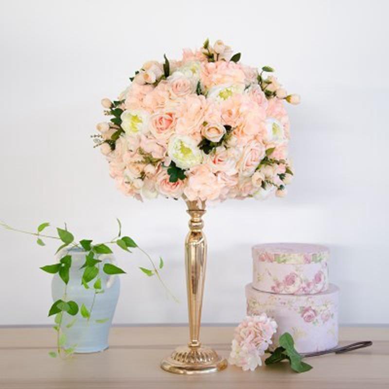 35cm Diy Rose Artificial Flower Ball Centerpieces Decor Wedding