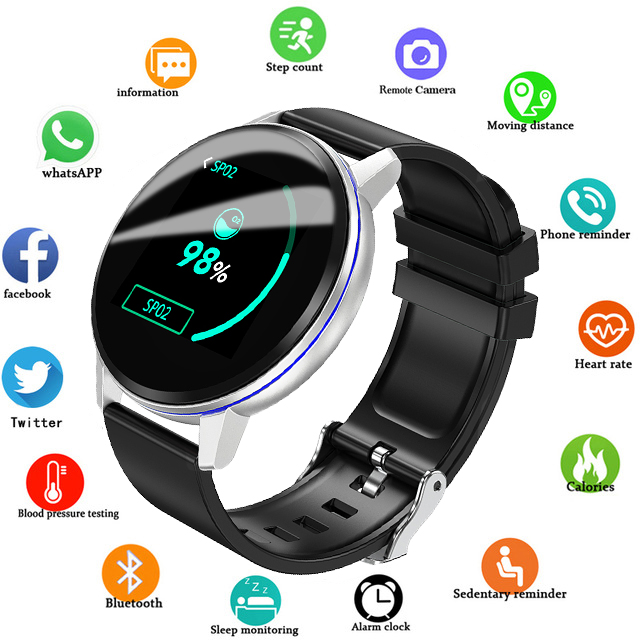 <font><b>2019</b></font> <font><b>New</b></font> LIGE Black Casual Fashion <font><b>Smart</b></font> bracelet <font><b>Watch</b></font> Mens Fitness Tracker Top Brand Luxury Waterproof Clock <font><b>Smart</b></font> Wristband image