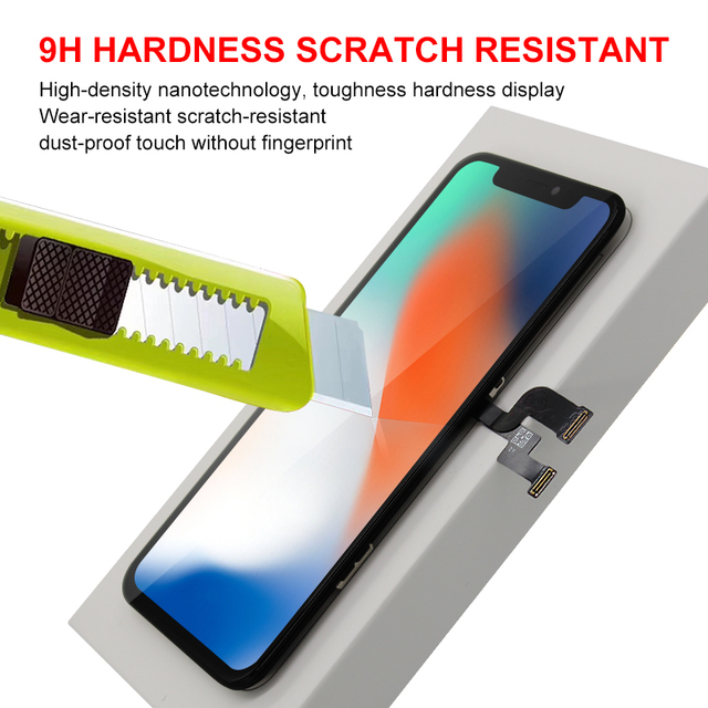 AAAAA OEM OLED For iPhone X XS XR XS MAX LCD Display Touch Screen Replacement with 3D Touch Digeiter Assembly Parts Free Case