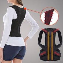 Corrector de postura ajustável para trás suporte de ombro para trás cinta postura correção de coluna postura corrector postural fixer fita