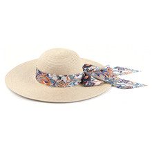 Sunproof Wide Brim Travel Beach Bowknot Embellish Fashion UV Protection Summer Straw Hat Women Casual Outdoor Holiday Foldable(China)
