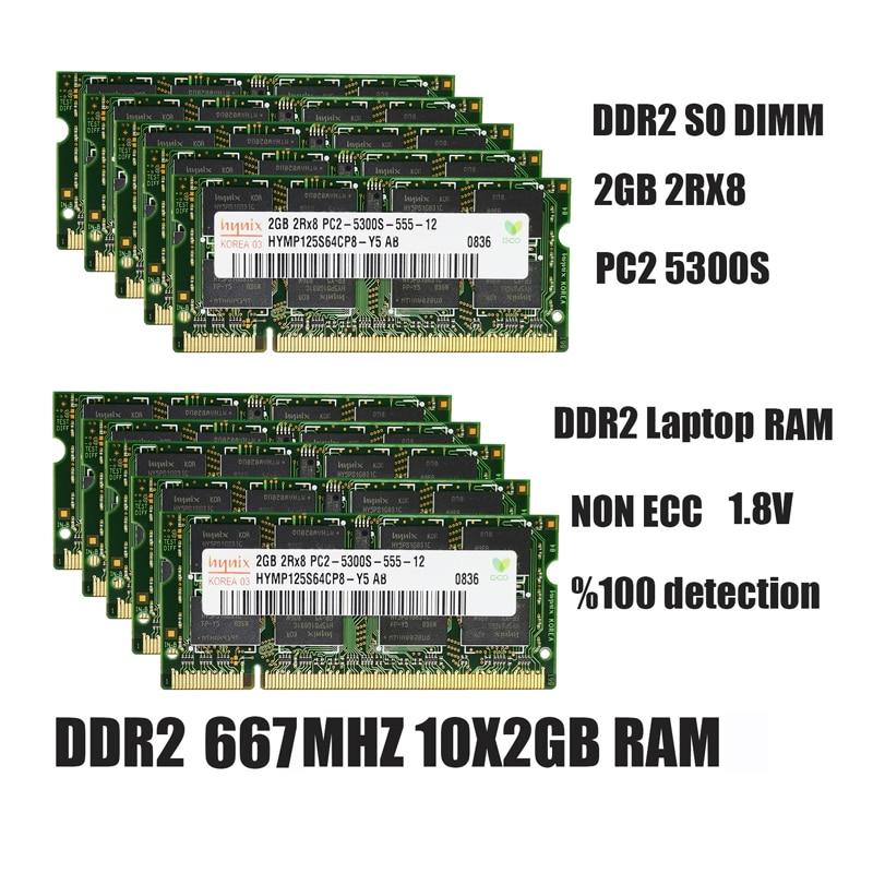Hynix ddr2 2 Гб оперативной памяти sodimm памяти ноутбука PC2-5300 6400 800 667 МГц 200pin 1,8 V Тетрадь ddr2 Оперативная память