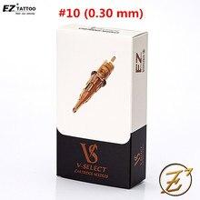 EZ V Select الوشم خرطوشة الإبر #10 Bugpin 0.30 مللي متر بطانة مستديرة المتاح العقيمة الوشم الإبر الوشم لوازم 20 قطعة/صندوق