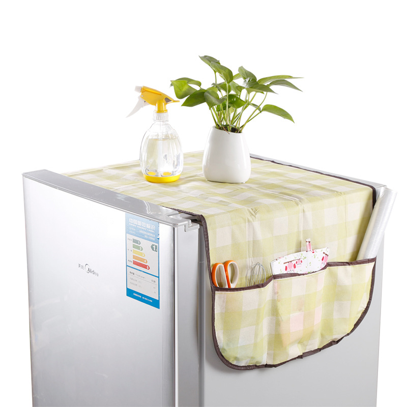 Multi-purpose Non-woven Refrigerator Dust Cover Grid Refrigerator Cover Multifunctional Storage Bag