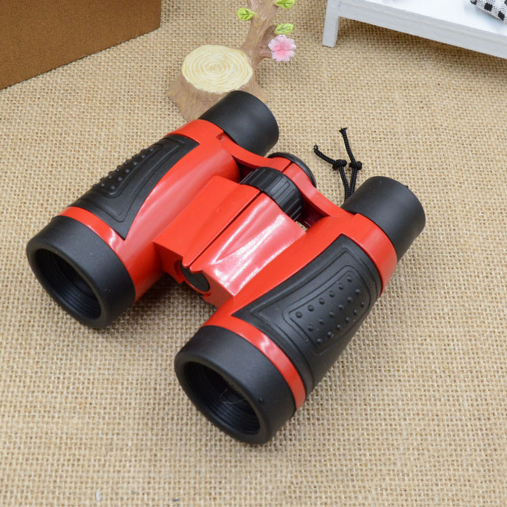 4X Games ABS Plastic Boys High Definition Children Binoculars Girls Double Tube Compact Outdoor Telescope Kids Toys image