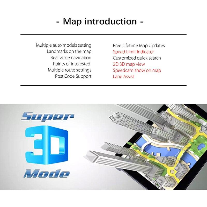 XGODY 4.3 ''HD Lkw Auto GPS Navigation FM Sat Nav 128/8GB GPS auto Kostenloser Karte Aktualisiert russland Navitel Karte Navigator Automobil