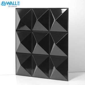 Wall-Panel House Room-Decor Geometric 30x30cm-Plant-Fiber 3D Wedding-Party Interior Diamond-Design