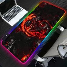 Đèn LED RGB Gaming Mousepad Rồng Siêu Quái Thú Chiếu Sáng Máy Tính Mousepad XL Cao Su Bàn Làm Việc Cho Laptop Cho LOL Dota Hỗ Trợ tùy Chỉnh