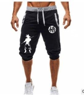 Brand New Mens  Jogging Sports Dragon Ball Goku Print Workout Training Brand Knee Length Short Pant