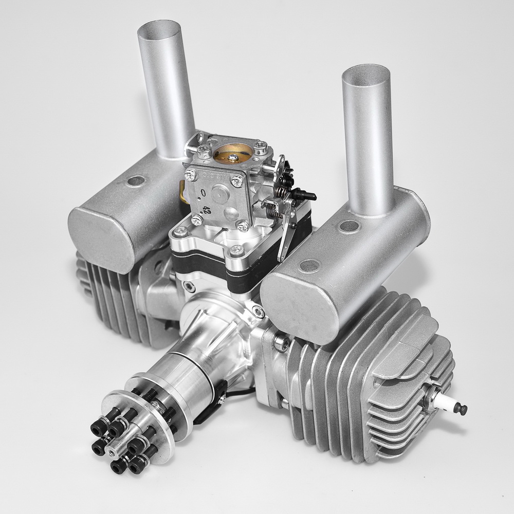 VVRC RCGF 120cc Twin Cylinder Petrol/Gasoline Engine Dual Cylinder with Muffler/Igniton/Spark Plug for RC Model AirplanePartes y accesorios   -