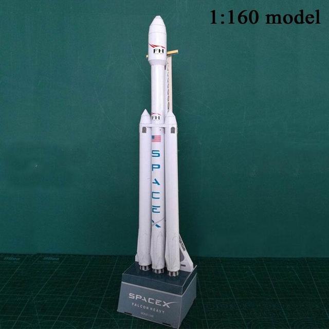 1:160 Falcon Heavy Rocket Spacex Paper Model Puzzle Handmade Diy Space Model 3
