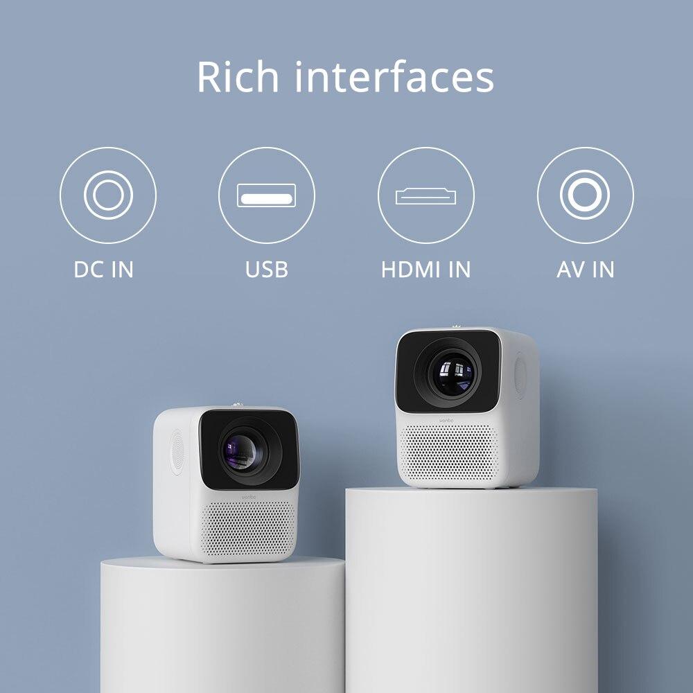 Wanbo t2 livre lcd projetor led mini projetor portátil suporte completo hd 1080p cinema em casa teatro tv beamer-4