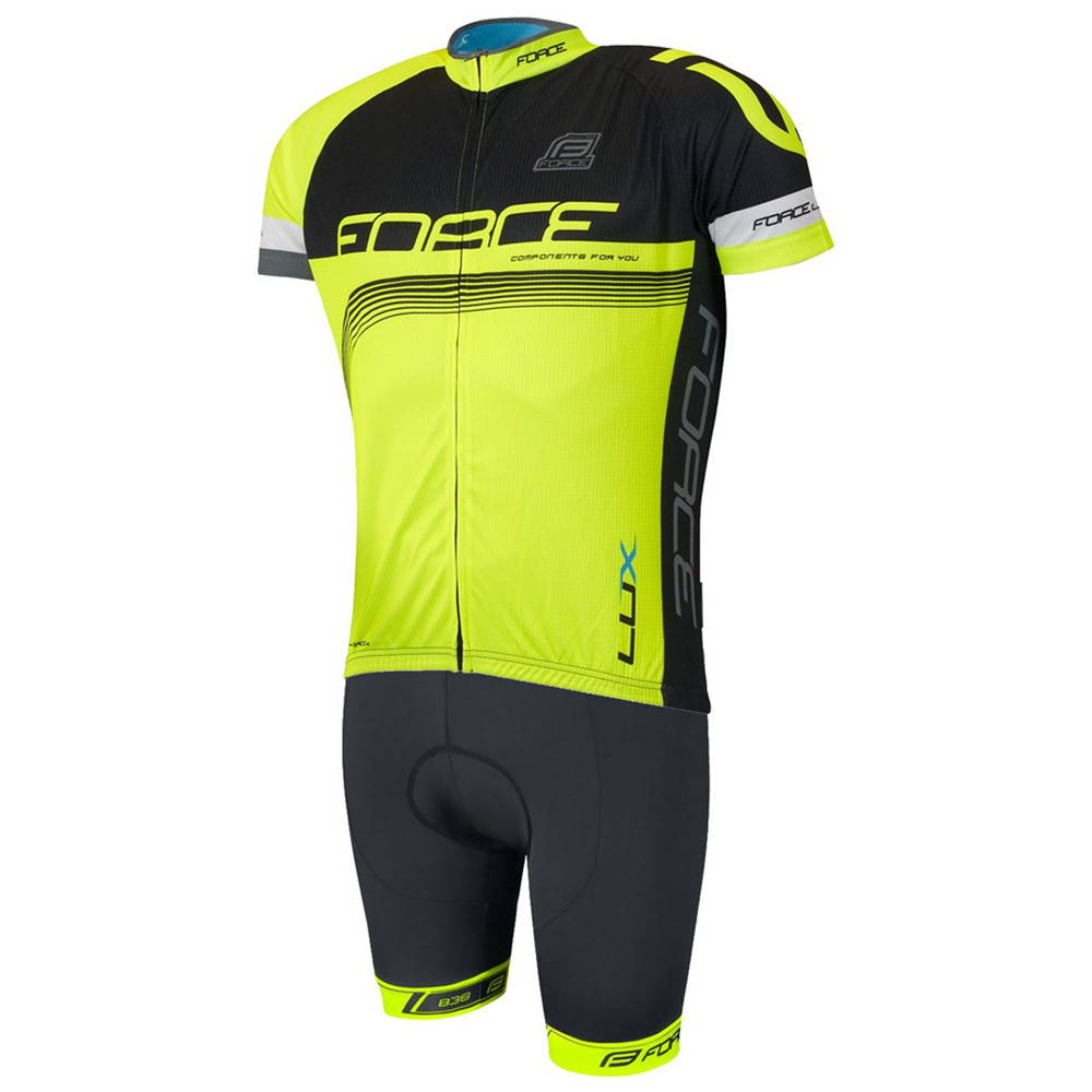 2020 FORCE New Cycling Jersey Team Outdoor Men Bike Clothing MTB Summer Short Sleeve Kit Bib Shorts Ropa Malliot Ciclismo Hombre