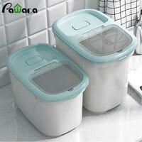 쌀 컨테이너 디스펜서 측정 컵 식품 저장 상자 상자 밀폐 밀가루 곡물 시리얼 컨테이너 방진 주방 주최자