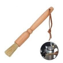 1 шт. кофе щетка кофемолочная машина Чистящая кисточка с деревянной ручкой натуральная щетина деревянная щетка для пыли для кофемашины