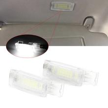 2 uds LED Interior espejo de luz, lámparas de lectura para Volkswagen Golf 5 6 mayor edición para Jetta Passat CC Polo Scirocco Sharon