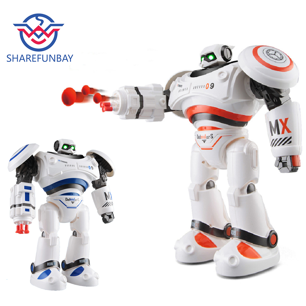 SHAREFUNBAY AD Police Files Programmable Combat Robot and Intelligent RC Defender for Kids 1