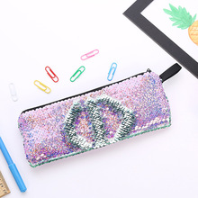Stationery Pencil-Bag Mermaid Back-To-School-Supplies Glitter Girls for Gifts Sequins