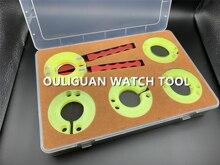 Guarda strumenti di riparazione Orologio Lunetta Rimozione Pinza Per La Rotazione Cornici Orologi Della Vigilanza di rotazione anello esterno strumento di rimozione RLX/OMG/PAN