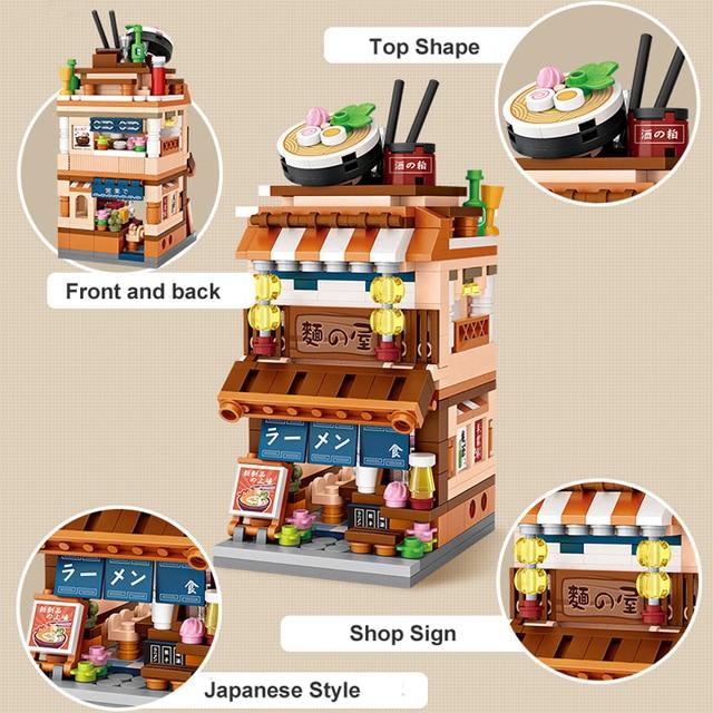 LOZ Builidng Blocks City Shop Toys Street Store Mini Bricks DIY Figure 3