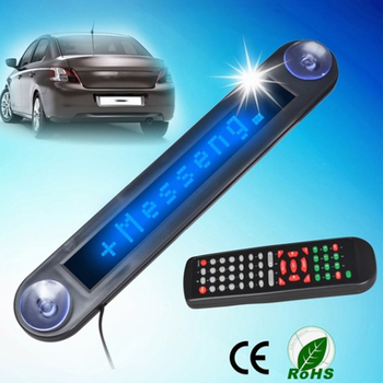 Hot 12V Car Mini Slim LED Programmable Message Sign Scrolling Display Board with Remote Car Accessories