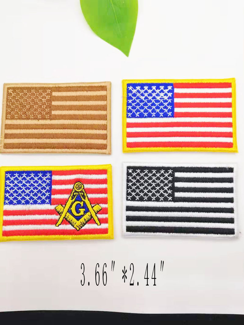 Flag Patch Embroidery Stripes Russia Turkey France EU Dutch Military Tactics Banner Patch Army Applique Stripes