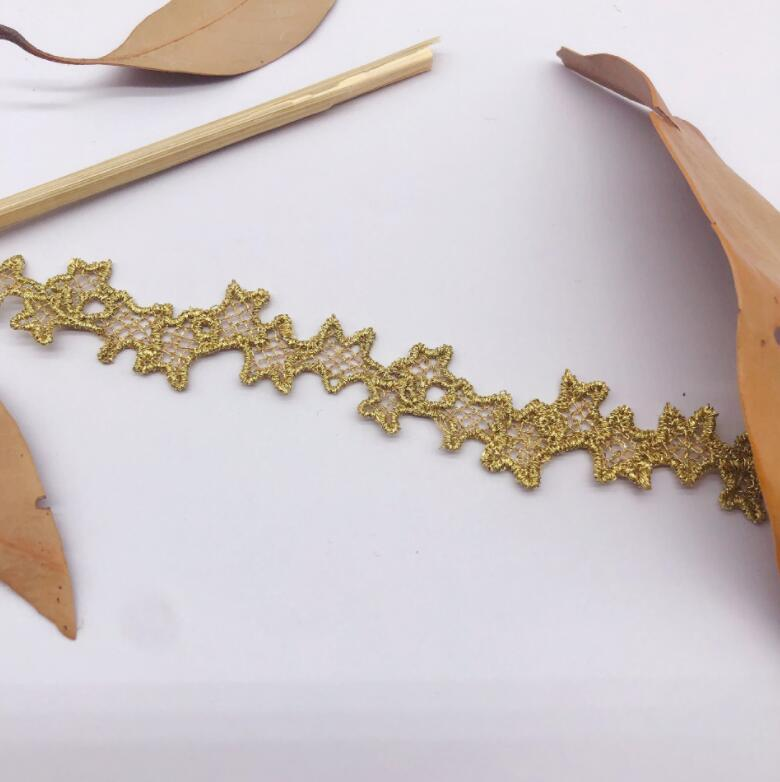 Beautiful gold braided lace trim for designing arts crafts decor 1 metre 2cm