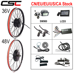 Electric Bicycle Conversion Kit 36V 250W 350W 500W 48V 1000W 1500W 20-29inch 700C EBike Brushless Hub Motor Bike Rear Wheel