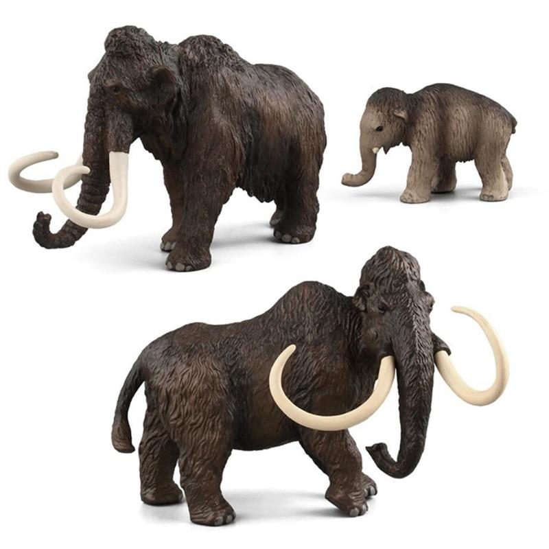 Mamut figura elefante Animal salvaje de simulación juguetes de simulación Animal Artificial elefante modelo de juguete juguetes educativos para niño