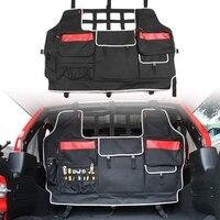 Banco de trás do carro assentos traseiros multi função organizador saco de sela para jeep wrangler jk jl multi bolsos saco de armazenamento 2007 2019 Kit de retrovisor dobrável     -