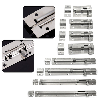 Furniture Door Bolt Latch Stainless Steel Lock Sliding Chain Security And Window Hardware