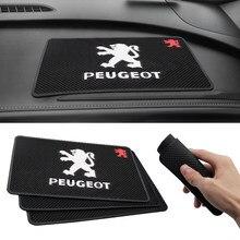 Автомобильный Стайлинг, нескользящий коврик, держатель для телефона, нескользящий коврик, коврик для Peugeot 107 108 206 207 301 308 307 407 408 508 2008 3008 4008 5008