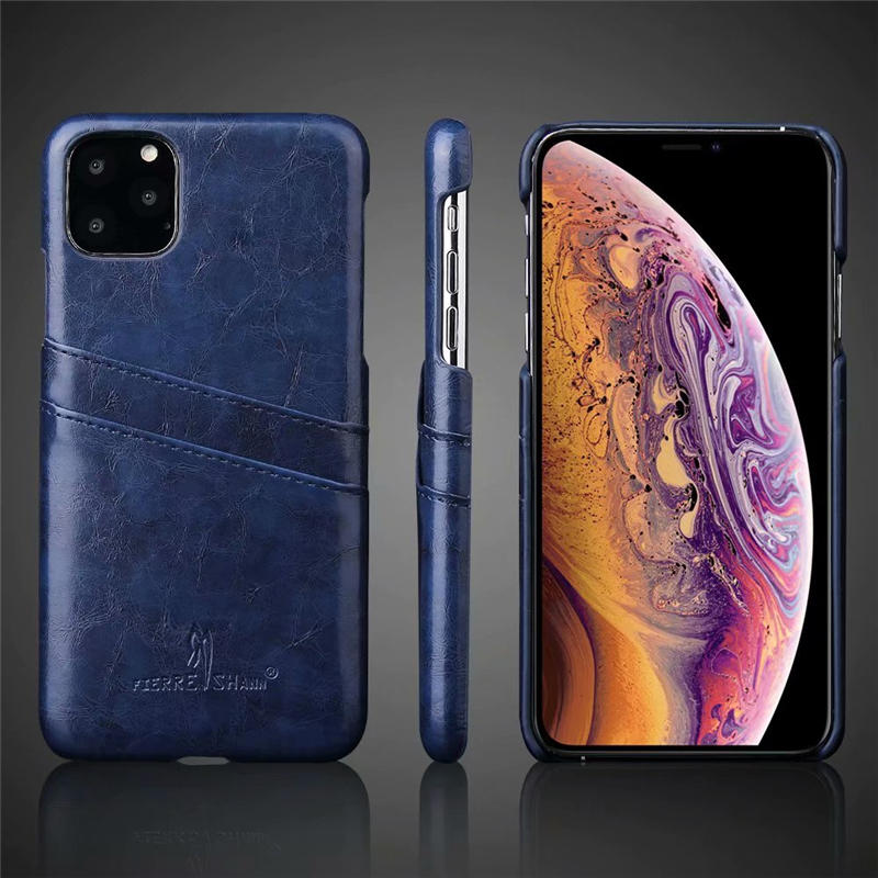 Slim Hard Leather Card Holder Case for iPhone 11/11 Pro/11 Pro Max 14