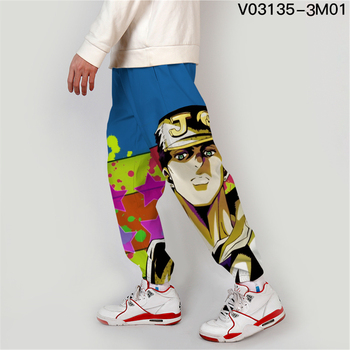 Jojo Bizarre Adventure Jogger Men Streetwear Spring Autumn Sweatpants Anime Casual Trackpants Men Harajuku Pants Fashion Loose 8